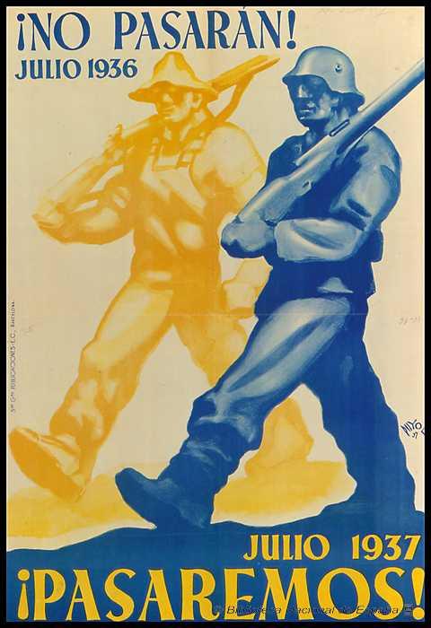 cartel de no pasaran de la guerra civil española