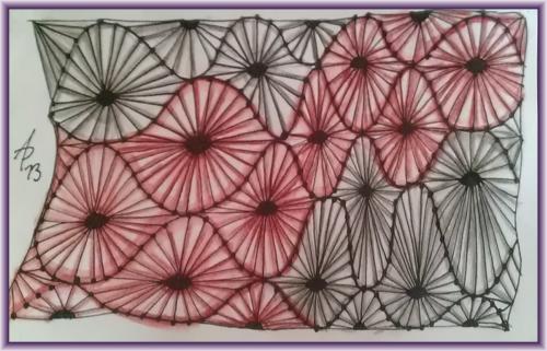 Idiloewenherz gespannte mono muster kritzelei for Nagelbilder vorlagen