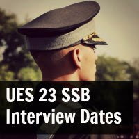 UES 23 SSB Interview Dates Indian Army