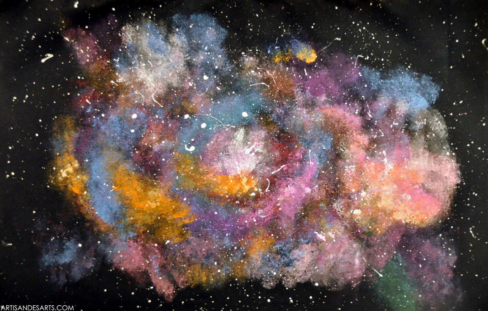 Artisan des arts outer space nebula galaxy paintings for Space and outer space