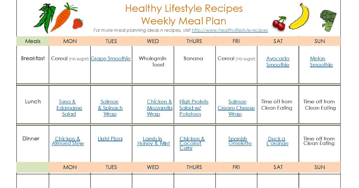 Clean Eating And A Healthy Lifestyle With Free Meal Planner