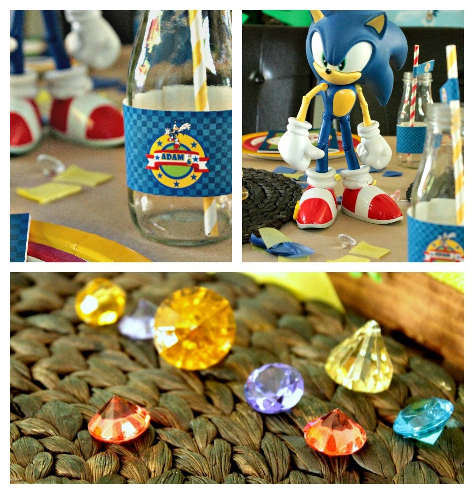 sonic party ideas, sonic party supplies, sonic the hedgehog toys