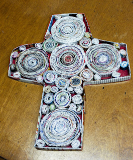 Recycled Magazine Crosses Activity