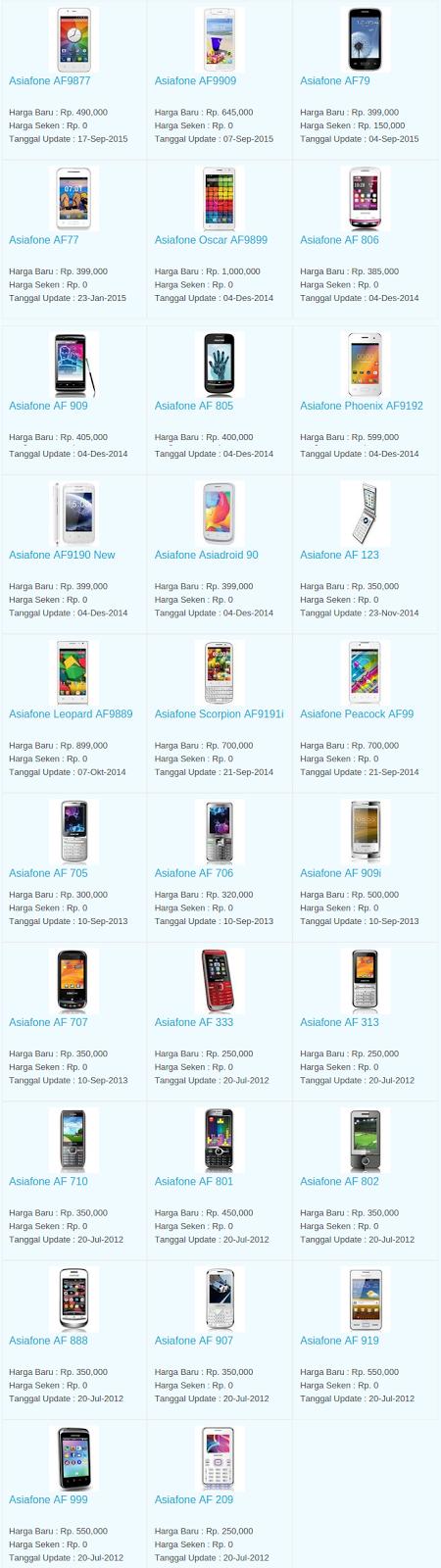 Daftar Terbaru Harga Hp Asiafone Oktober 2015