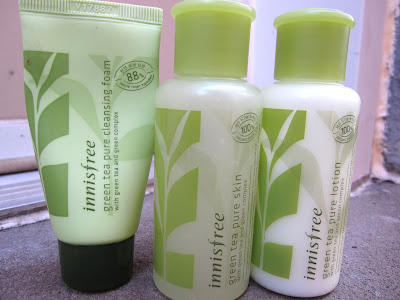 Review Innisfree Green Tea Cleansing Foam Pure Skin Toner Pure Lotion