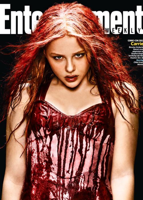 Chloe Moretz como 'Carrie' para Entertainment Weekly