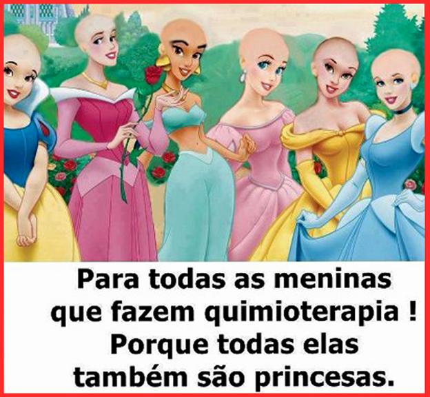 Princesas sao sempre princesas mesmo carecas