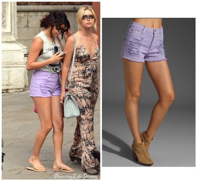Selena Gomez Minkpink Boutique Zappo Denim Shorts