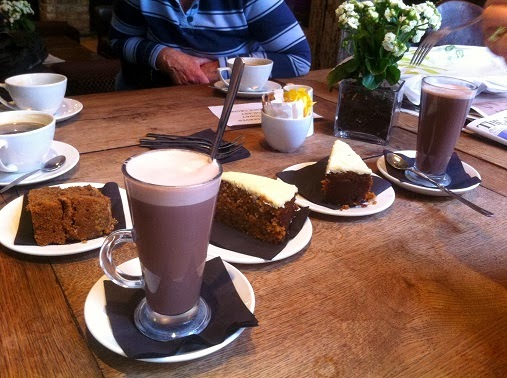 Cake and coffee at the King's Arms Berkhamsted