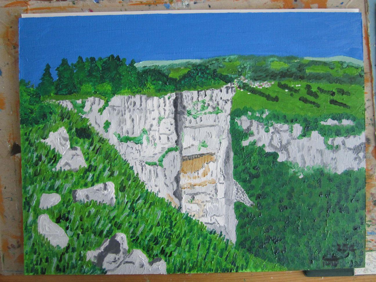 Bergquarz - Ubergang wand decke acryl ...