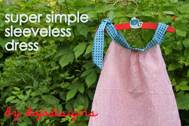 how to make a easy straigth summer dress