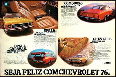 propaganda linha Chevrolet 76 - 1975.  brazilian advertising cars in the 70. os anos 70. história da década de 70; Brazil in the 70s; propaganda carros anos 70; Oswaldo Hernandez;
