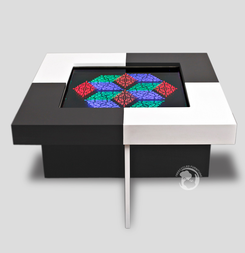 Led furniture hight light led furniture ledvertisment coffee table mdf 80x80x45cm Led coffee table