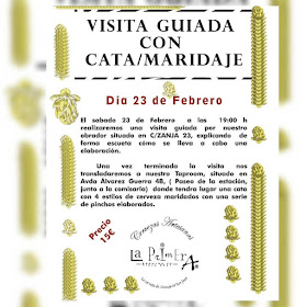 Visita Guiada con Cata Maridaje de Cervezas Artesanas La Primera