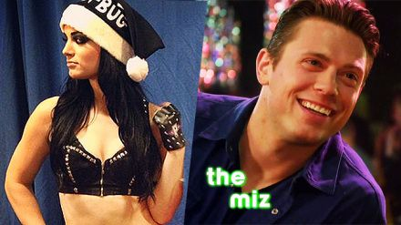 Miz Paige WWE santa's little helper DVD Studio