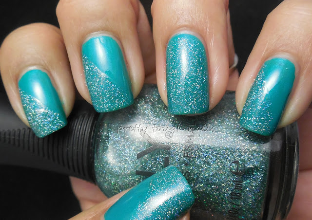 Sinful Colors Rise & Shine Swatch And Review with Bonus Orly Sparkling Garbage Nail Art