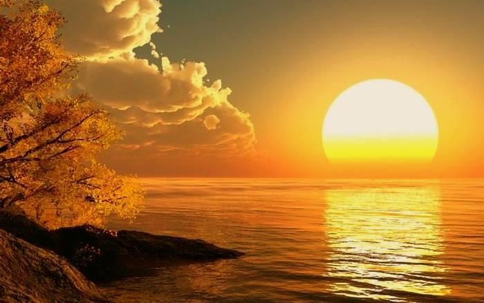 pemandangan indah waktu senja