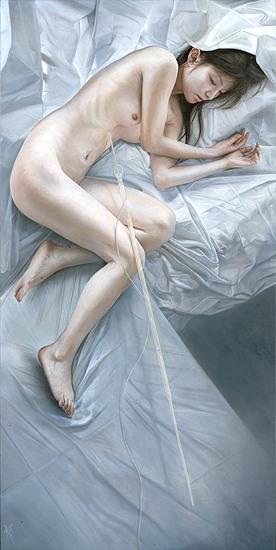 atsushi suwa ilustração pintura hiper-realista mulheres orientais japinhas nuas peladas