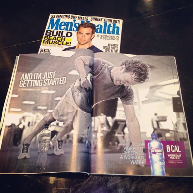 Ryan Adams in Propel Ad Men's Fitness