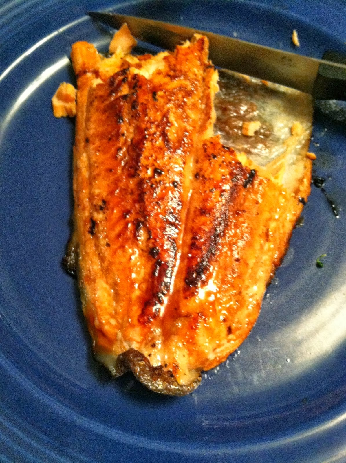 Simple Pan Seared Salmon.