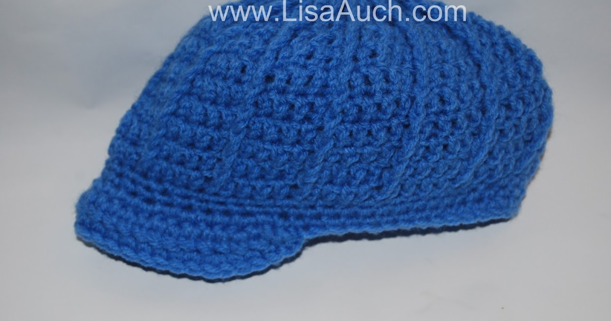 Free Crochet Patterns And Designs By Lisaauch : Free Crochet newsboy Hat Pattern {Newborn-3 months} Free ...