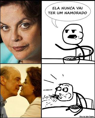 Dilma beija Serra