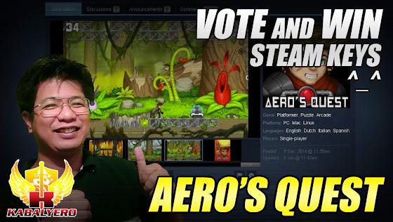 Aero's Quest, Vote And Win, STEAM Keys