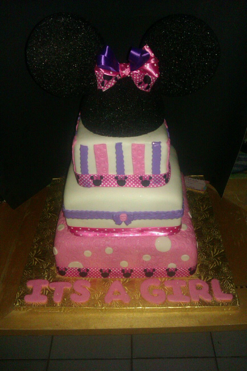 Chibi Delight Cakes Minnie Mouse Baby Shower Cake