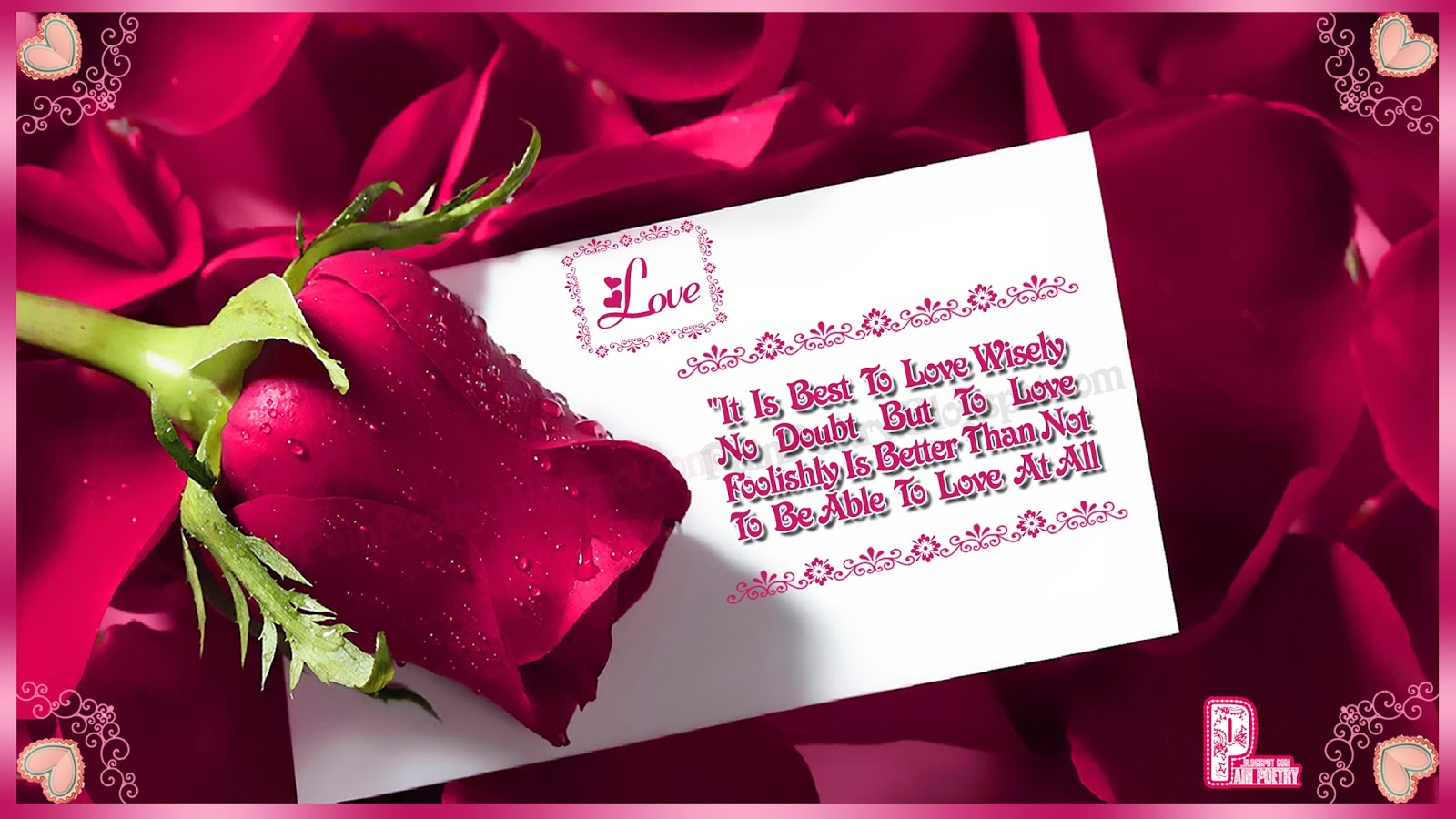 Love-Greetings-Quote-For-Lovers-With-Pink-Rose-Image-Photo-Wallpaper-HD
