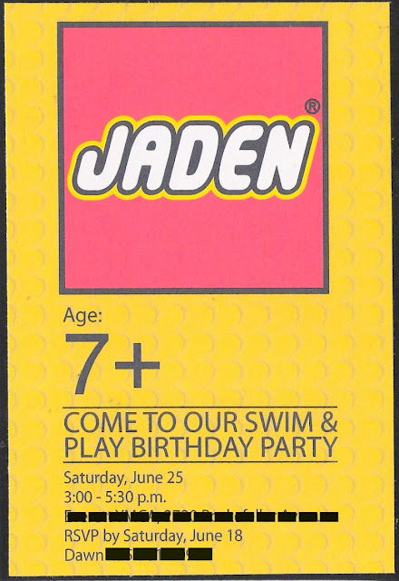 LEGO party invite