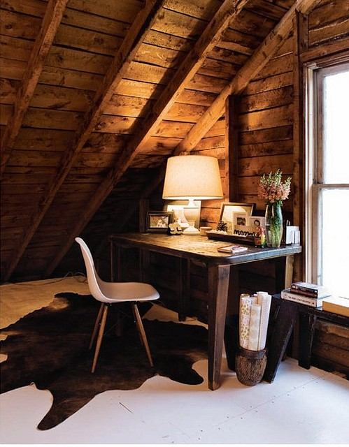 I love an attic office with a view. Mine is like being in a tree house.  Since I got a wireless laptop I don't spend as much time there as in the ...