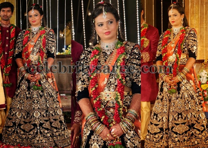 Heavy Thread Work Reception Lehenga