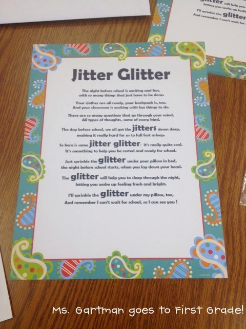 Epic image inside jitter glitter poem printable