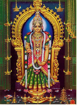 Picture of Goddess Devi Kanya Kumari at Kanyakumari Devi Temple, Tamilnadu