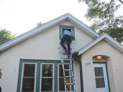access to attic through window