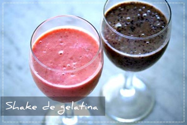Shake de gelatina