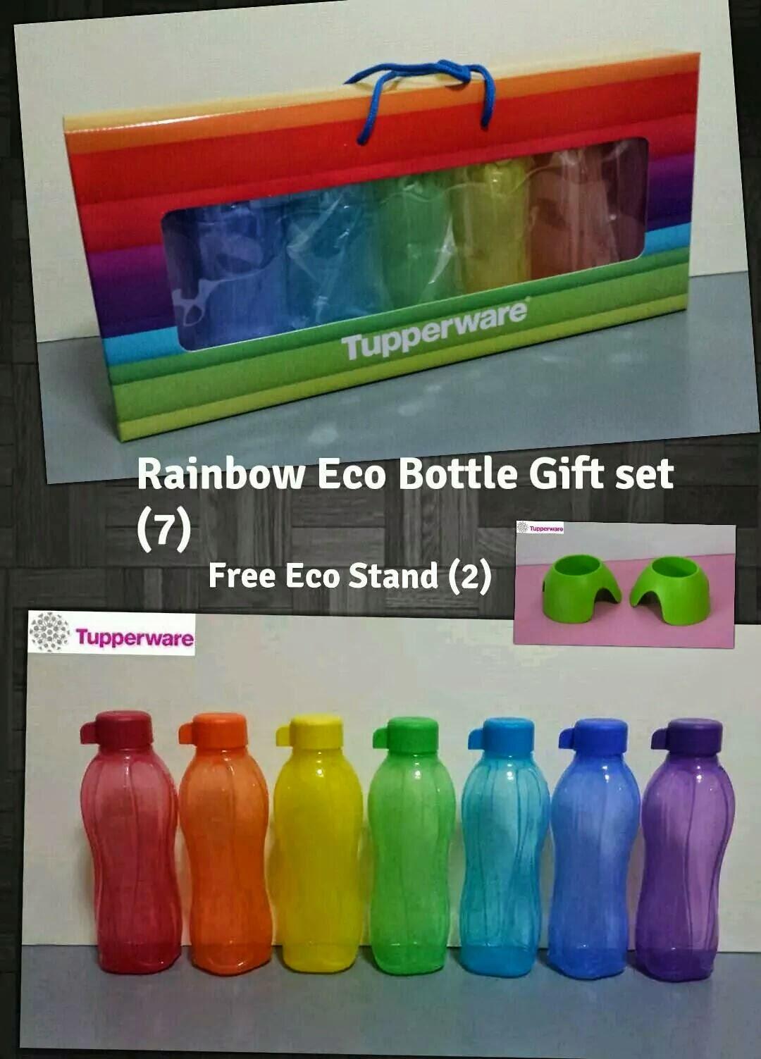 Buy Tupperware In Singapore 2014 Eco 310ml 4 Neon Bottle Rainbow Set 7 500ml