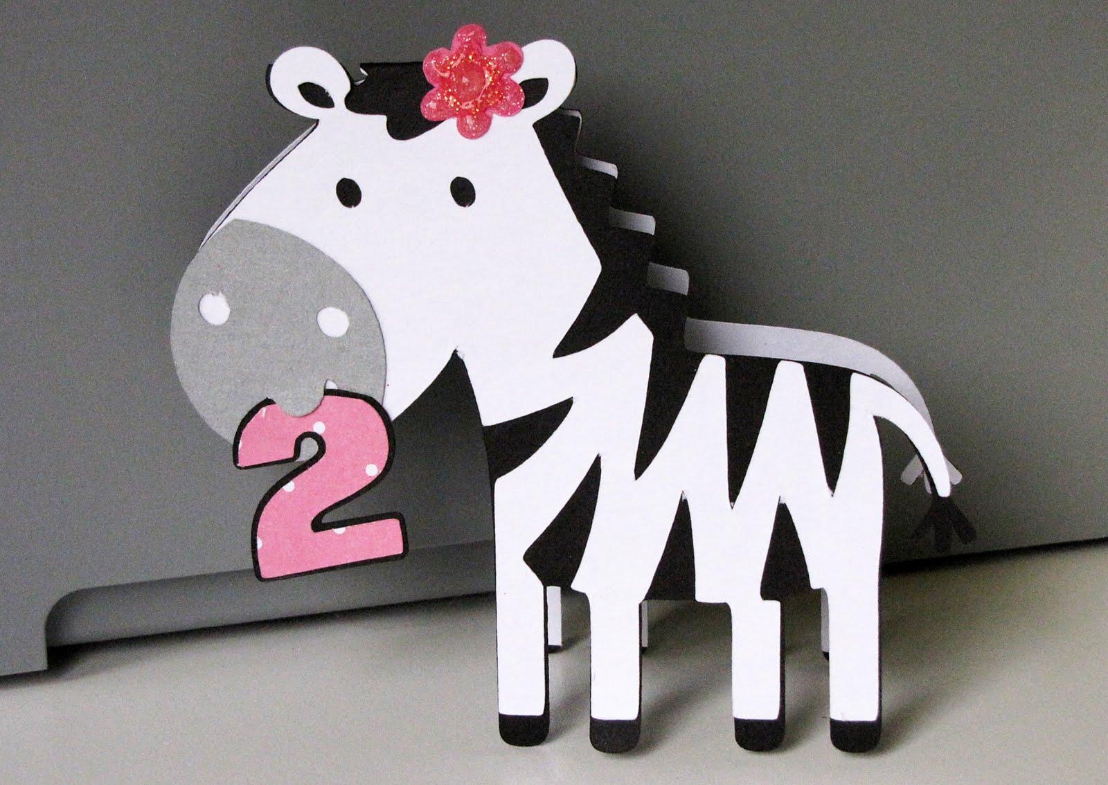 Jens Happy Place Zebra With Polka Dots Birthday Card