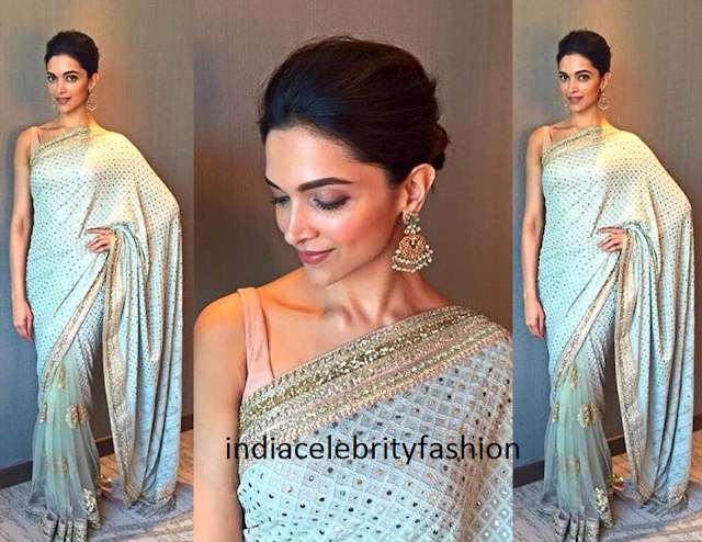 Deepika Padukone in Sabyasachi sari for Jaipur polo game