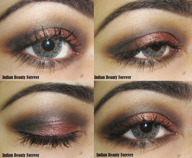 Tutorial for smokey eye makeup with berry eye shadow