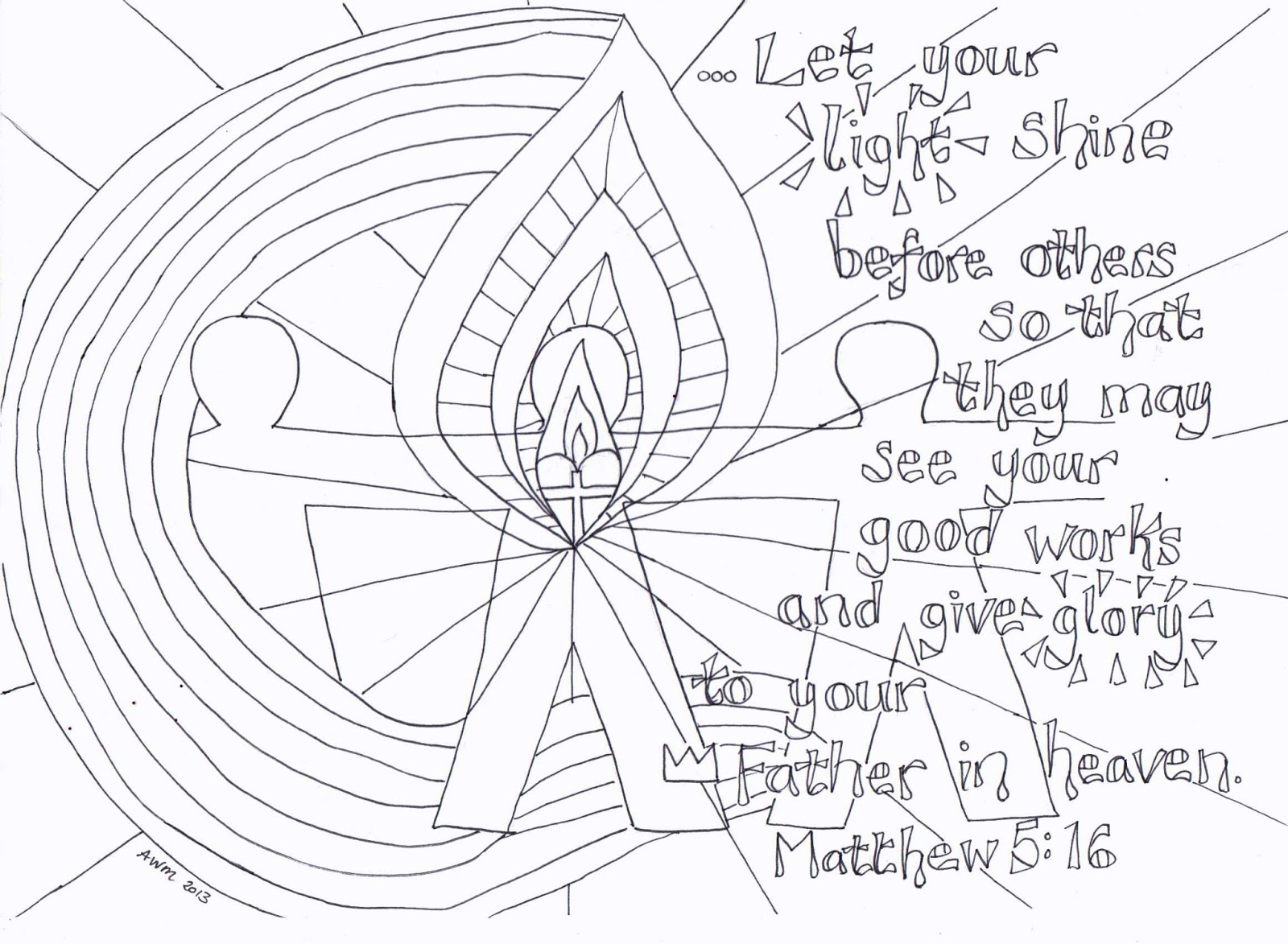 Salt And Light Coloring Page Flame Creative Children's Ministry Let Your Light Shine .