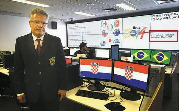 FIFA World Cup Security Team Accidentally Reveals their Wi-Fi Password