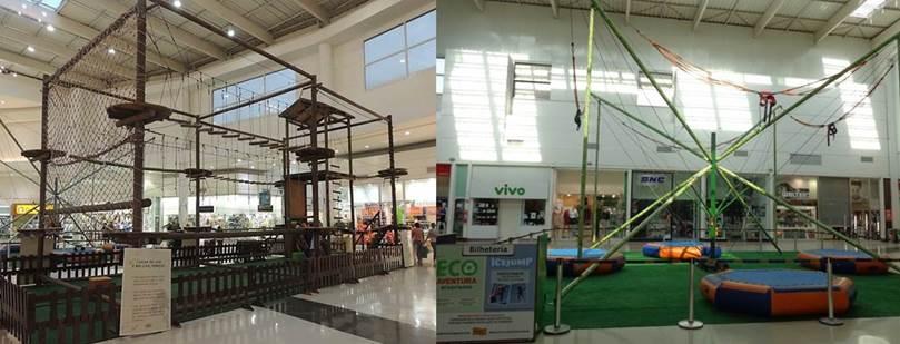 Com o Arvorismo e Jump 4x1, Shopping Grande Rio oferece aventura às crianças
