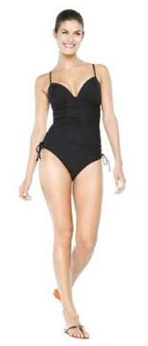 Assets is the latest collection from Target bathing suits: black tankini from Spanx from Sara Blakely