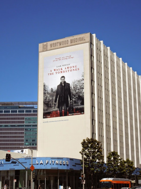 A Walk Among the Tombstones giant billboard
