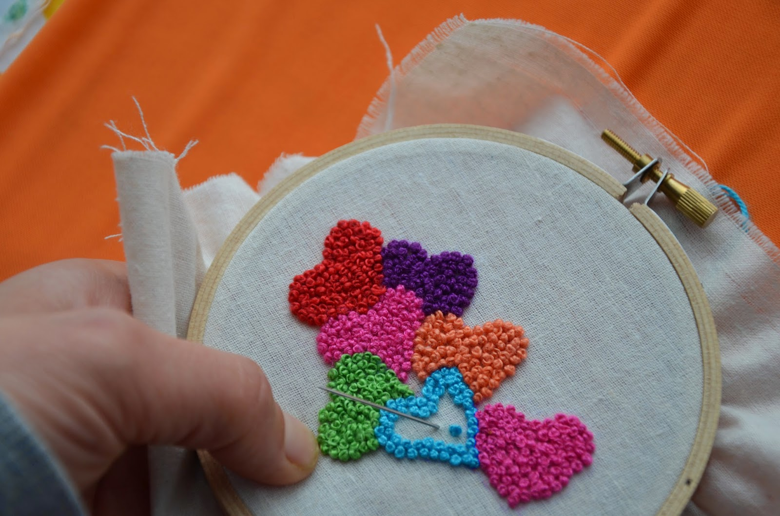 Keep repeating until you form enough amount of French knots for your project.