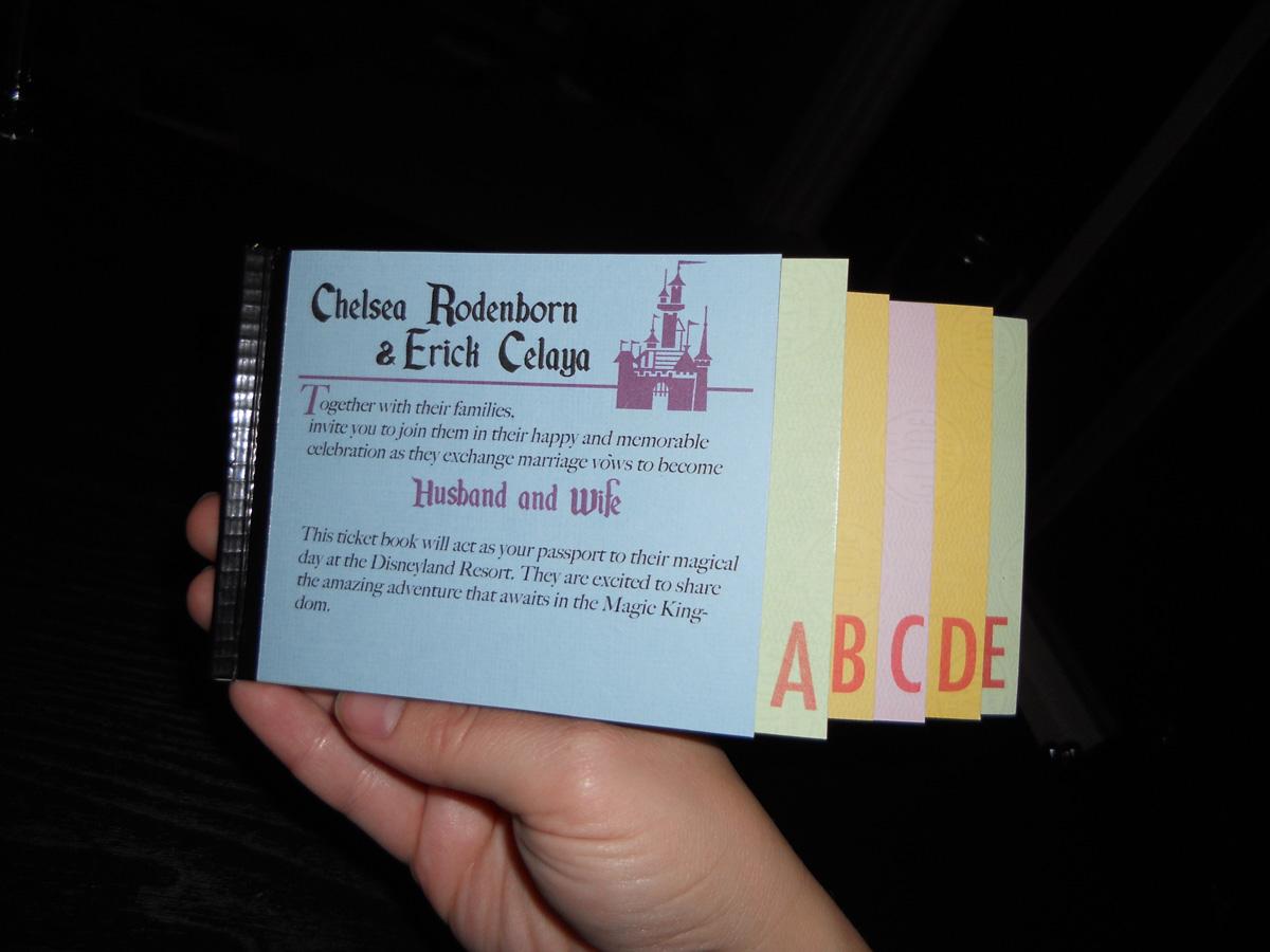 Disneyland E Ticket Invitation Booklet!  Invitation Ticket