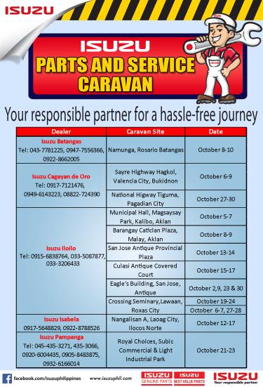 Isuzu Parts and Service Caravans