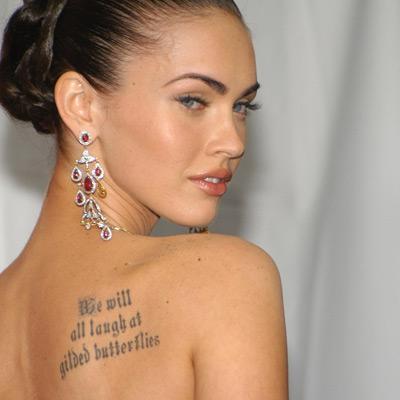 Megan Fox tattoos meaning