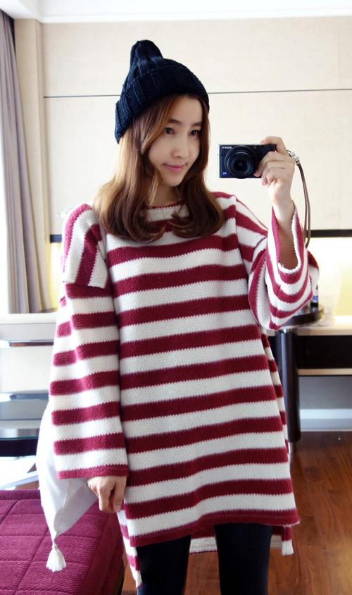Stripe Drop Shoulder Dress